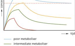 Mogelijke effecten van genetische variatie op de farmacokinetiek